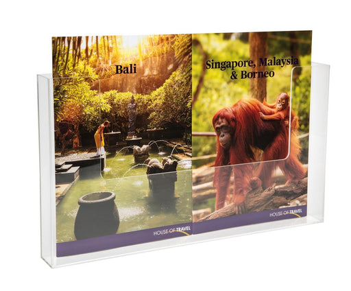 Larstons A3 Brochure Holder Wall Mounting Landscape