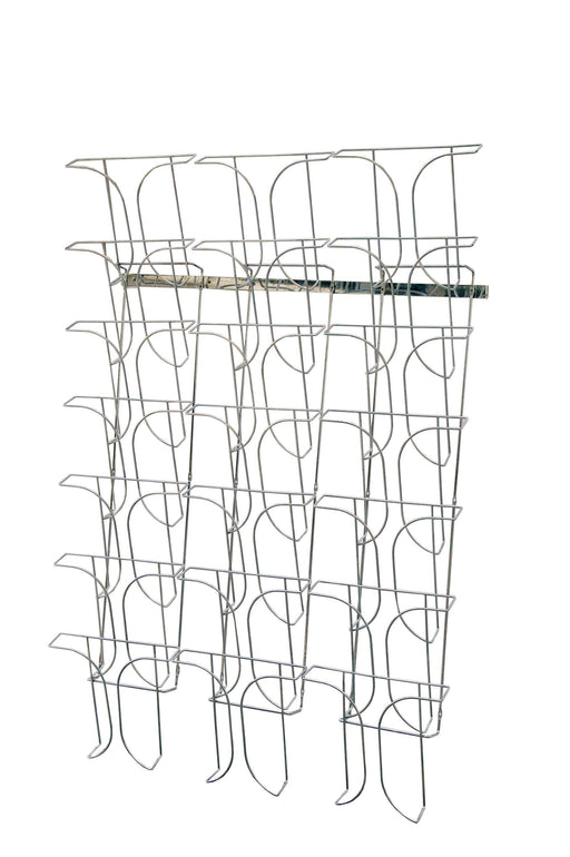 Larstons A4 Brochure Holder Wall Mounted 21 Pockets Chrome Wire