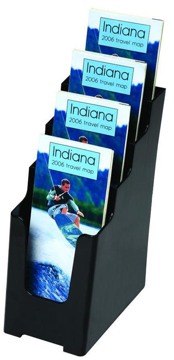 Larstons DL Brochure Holder 4 Tier Black