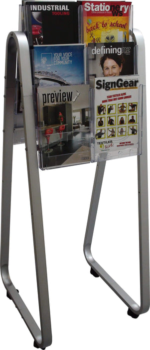 Larstons Easel Floor Stand & A4 Brochure Holder Double Side x 12 A4
