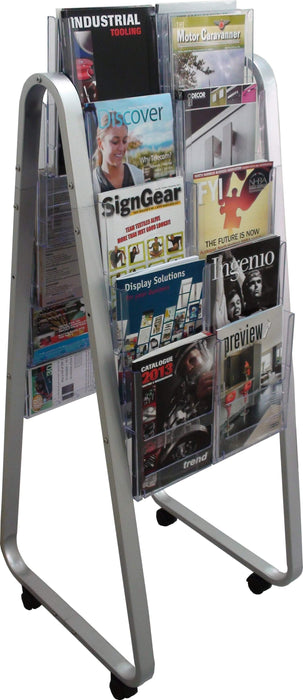 Larstons Easel Floor Stand & A4 Brochure Holder Double Side x 20 A4