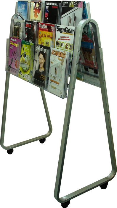 Larstons Easel Floor Stand & A4 Brochure Holder Double Side x 24 A4