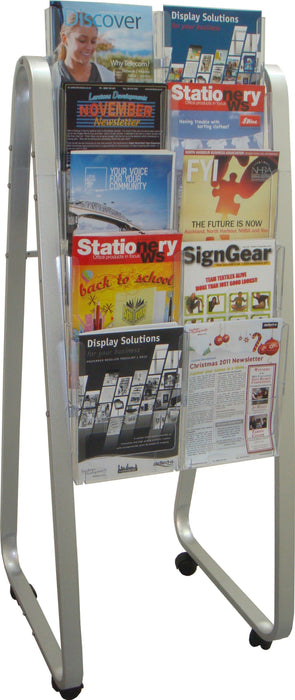 Larstons Easel Floor Stand & A4 Brochure Holder x 10 A4