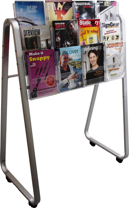 Larstons Easel Floor Stand & A4 Brochure Holder x 12 A4