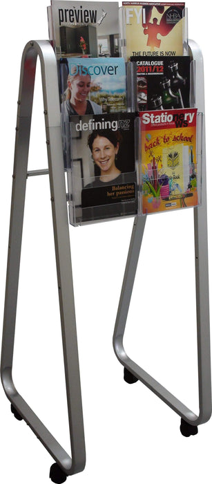 Larstons Easel Floor Stand & A4 Brochure Holder x 6 A4