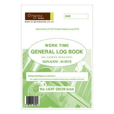 Originz General Private Hire Log Book - Uber Driver Preferred - 50 Sets