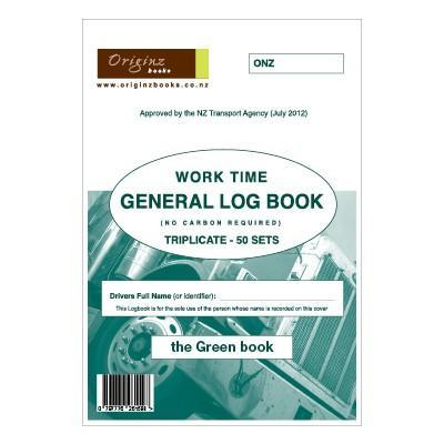Originz General / Truck Driving Log Book - 50 Sets