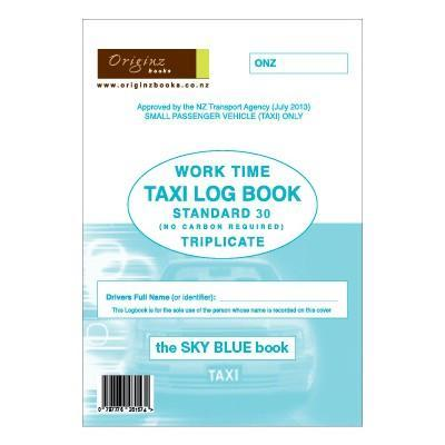 Originz Taxi Log Book Triplicate - 30 Sets