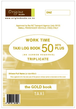 Originz Taxi Log Book Triplicate - 50 Sets
