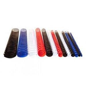 Presentations Plastic Binding Coil 8mm Red x 100