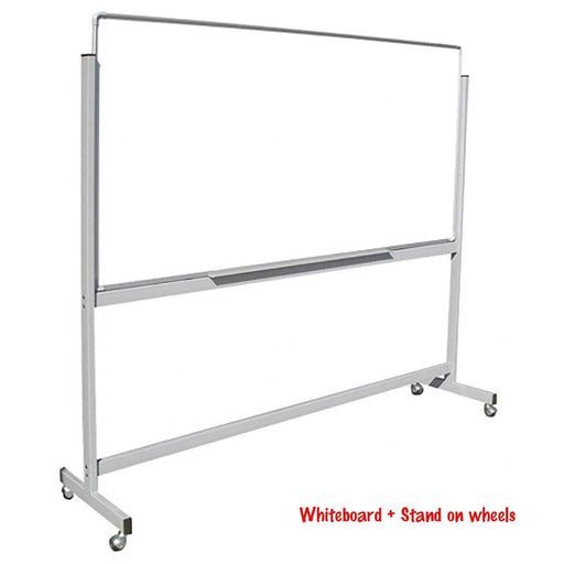 Trans Link Mobile Whiteboard 1200 x 1200mm On Stand