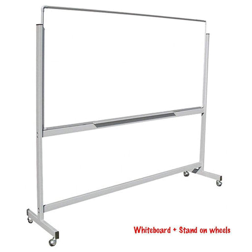 Trans Link Mobile Whiteboard 2400 x 1200mm on Stand