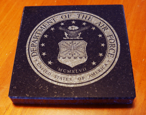 Granite Air Force Seal Coaster