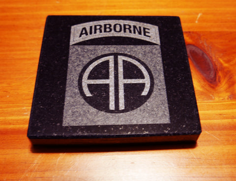 Granite 82nd Airborne Division Coaster