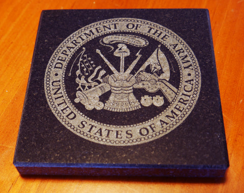 Granite Army Seal Coaster