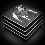 UGA standing Bulldog coasters set of 4