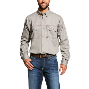 FR Solid Vent Shirt - Silver Fox
