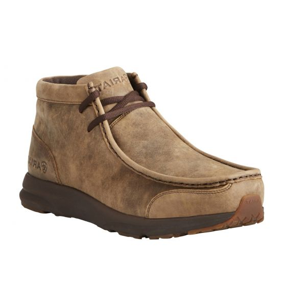 Ariat Brown Bomber Spitfire Mens Casual Moc Toe Chukka Boots 10021723