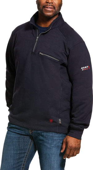 MENS FR REV 1/4 ZIP TOP NAVY - Navy