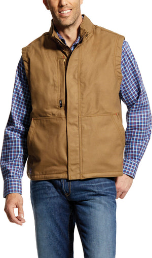 MENS FR WORKHORSE INSULATED VEST FIELD KHAKI