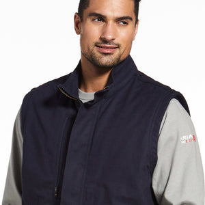 MENS FR WORKHORSE INSULATED  VEST NAVY