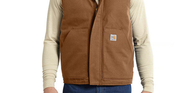 M FR Mock Neck Vest - 211-Carhartt Brown