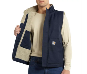 M FR Mock Neck Vest Dark Navy