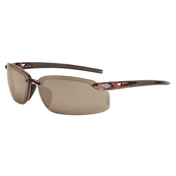 Crossfire ES5 Brown Frame Crystal Brown Lens Safety Glasses