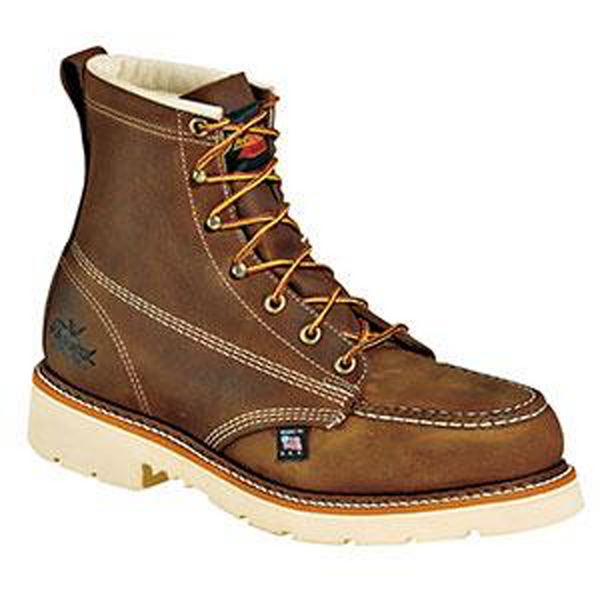 "Thorogood American Heritage Safety Toe 6"" Moc Toe Boots"