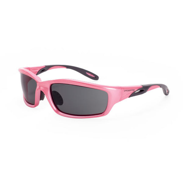 Crossfire Infinity Pink Frame Dark Smoke Lens Safety Glasses