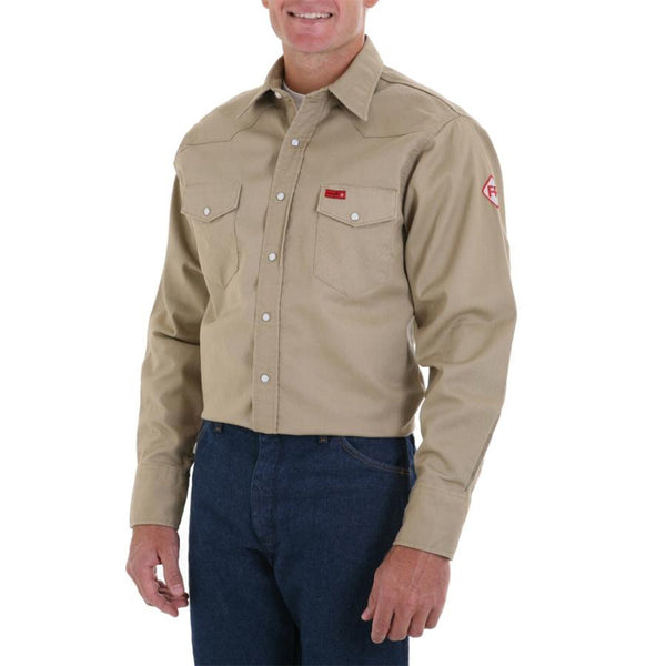 Wrangler FR Snap Work Shirt - Khaki