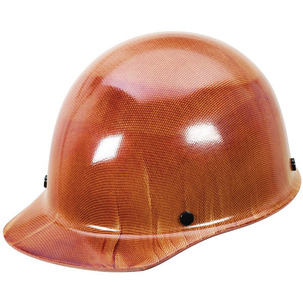 MSA Skullgard Protective Carbon Fiber Ball Cap Hard Hat - Brown