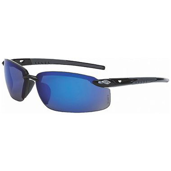 Crossfire ES5 Black Frame Blue Mirror Safety Glasses