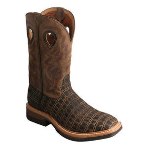 Twisted X Lite Cowboy Work Boots Croc Print MLCA003