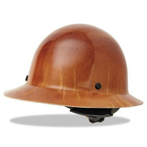 MSA Skullgard Protective Carbon Fiber Full Brim Hard Hat - Natural