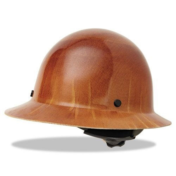 MSA Skullgard Protective Carbon Fiber Full Brim Hard Hat - Brown