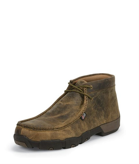 JUSTIN CAPPIE DARK BROWN STEEL TOE