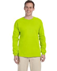 Gildan Ultra Cotton Adult Long Sleeve T-Shirt Style 2400 Safety Green