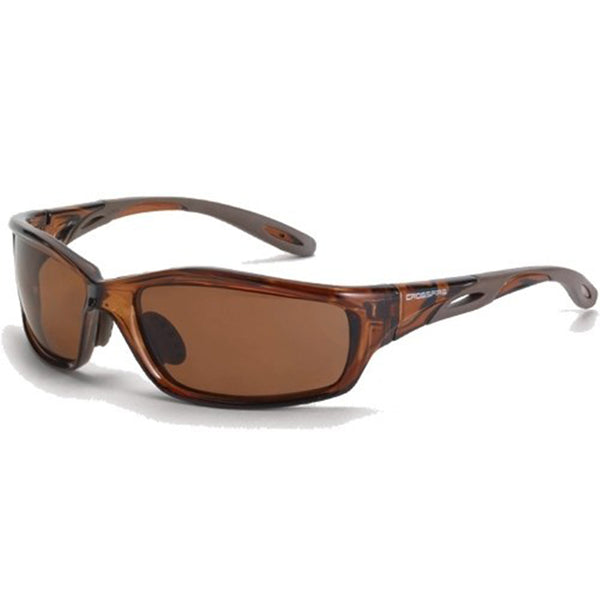 Crossfire Infinity Brown Frame Polarized Lens Safety Glasses