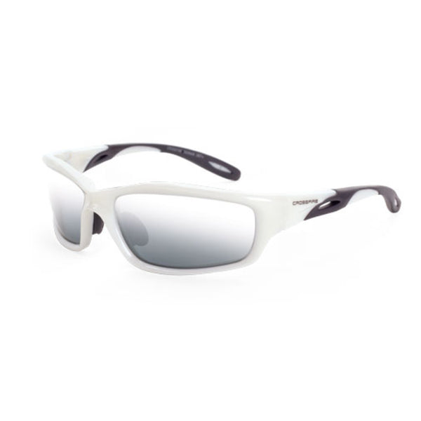 Crossfire Infinity White Frame Silver Mirror Lens Safety Glasses