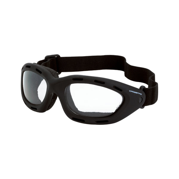 Crossfire Element Anti-Fog Black Foam-Lined Safety Goggles