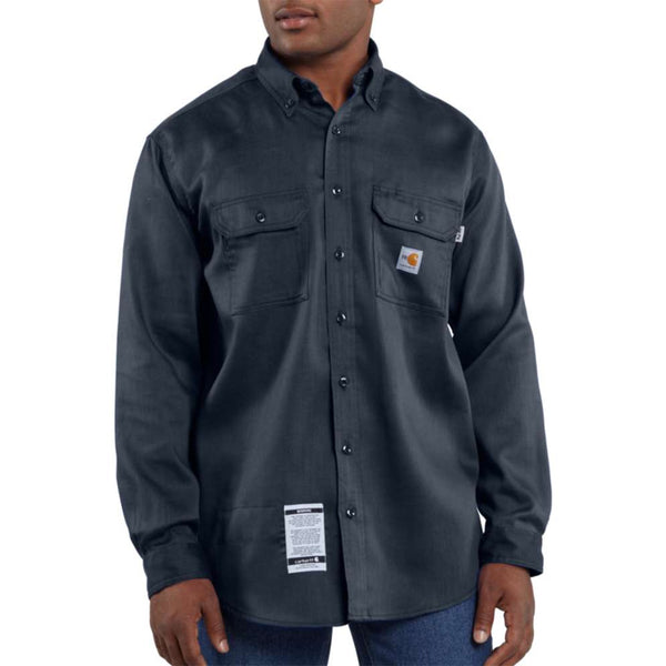 Men's Carhartt Flame-Resistant Work-Dry® Lightweight Twill Shirt - Navy