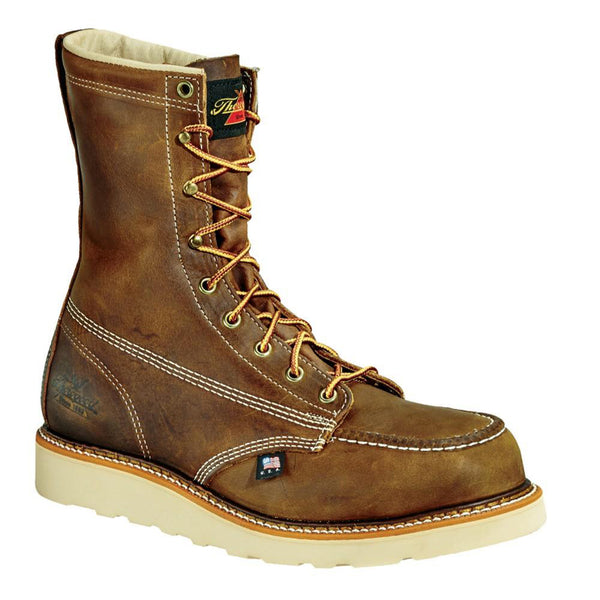 "Thorogood American Heritage Job Pro 8"" Moc Toe Safety Toe Boots"