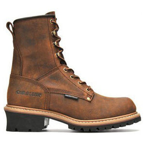 "Men's Carolina 8"" Waterproof Steel Toe Logger Boots"
