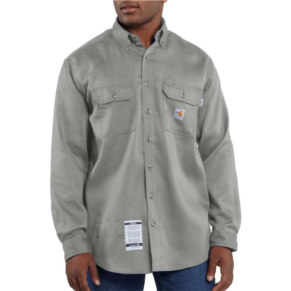 Men's Carhartt Flame-Resistant Work-Dry® Lightweight Twill Shirt - Gray