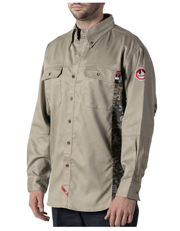 WALLS® FLAME RESISTANT OILFIELD CAMO WORK SHIRT