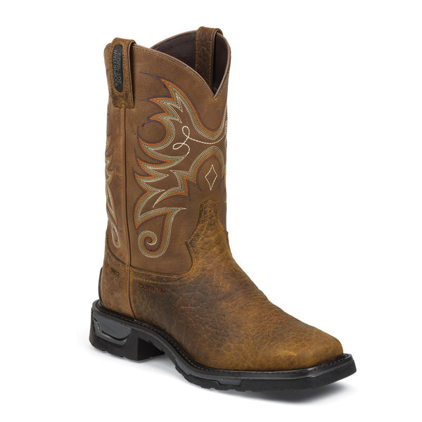 Tony Lama Men's Sierra Badlands TLX Western Work Waterproof Composite Toe Pull On Work Boot