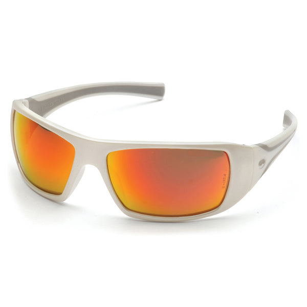 Pyramex Goliath White Frame Safety Glasses