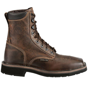 "Justin Stampede Workboot Steel Toe 8"" Lace Up"