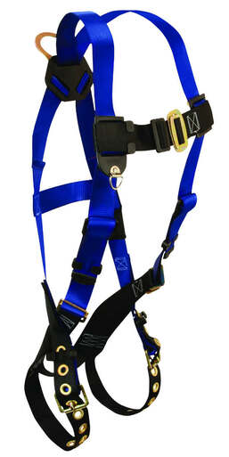 7016 Contractor 1D Standard Non-belted Full Body Harness, Tongue Buckle Leg Adjustment